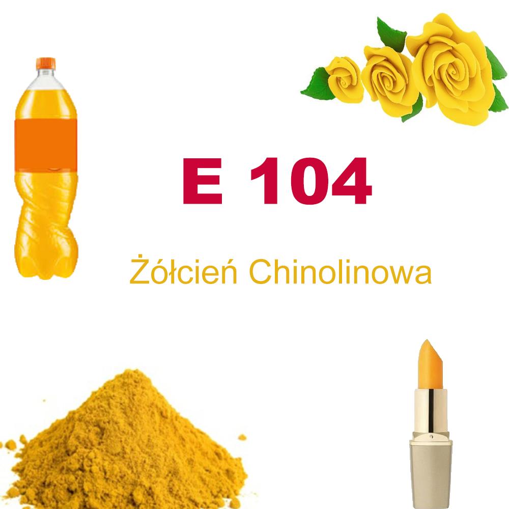E 104 Żółcień chinolinowa