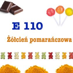E 110- Żółcień pomarańczowa