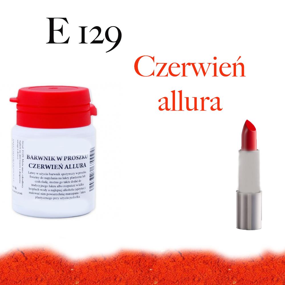 E 129 Czerwień allura