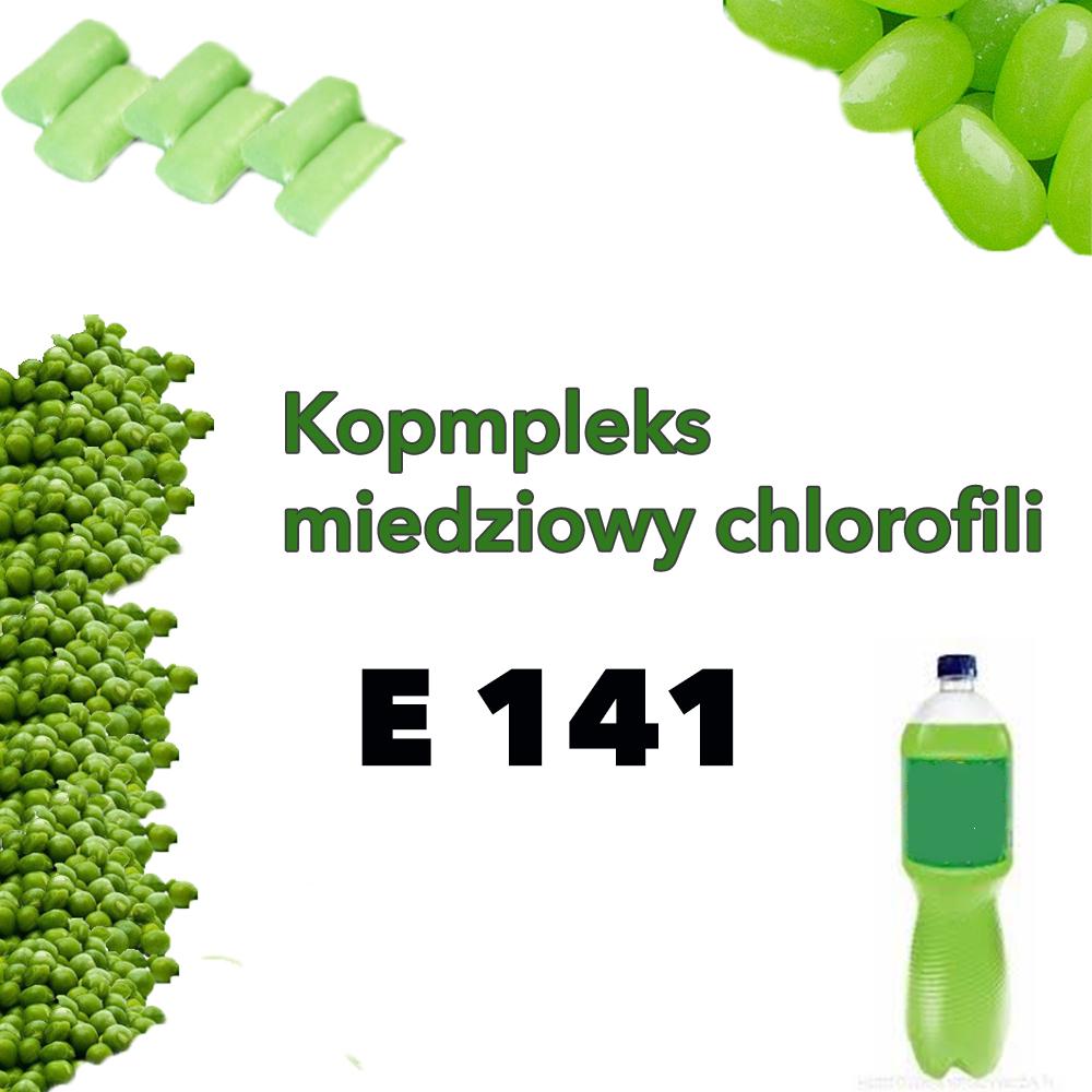 E 141 kompleksy miedziowe chlorofilu