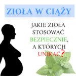 Ciąża a zioła