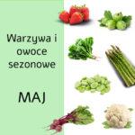 Maj warzywa i owoce sezonowe